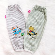 Quần chục dài cotton kẻ cho bé trai và bé gái 2-10kg chất vải đẹp mềm mịn hình thú bé mặc mát co giãn thoải mái BBShine – QVN002