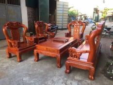 Bộ bàn ghế Minh Quốc Voi gỗ hương đá