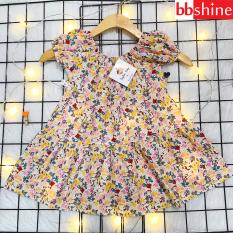 Váy bé gái mùa hè, Đầm bé gái hoa nhí cho bé 8-22kg chất thô mềm dáng xòe có thắt nơ mặt lưng đáng yêu BBShine – D085