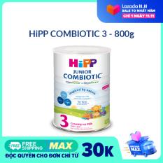 [FREESHIP] [CAM KẾT HSD CÒN ÍT NHẤT 8 THÁNG] Sữa bột DD HiPP 3 Growing-Up Combiotic 800g – Non GMO, tăng cường sức đề kháng
