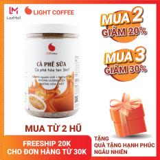 Cà phê sữa hòa tan 3in1 Light Coffee đậm vị, thơm ngon , đặc biệt chỉ kết hợp đúng 3 thành phần cà phê, đường, sữa , không hóa chất, không hương liệu – hũ 500g