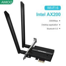 Card Mạng AX200NGW Card Mạng AX 3000G/5G 5.0 Băng Tần Kép Không Dây 2.4 Mbps WiFi 6 Intel AX200 PRO PCIE Bluetooth 802.11 Nơi