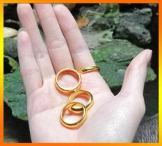 Nhẫn Trơn Inox Mạ Vàng 24K Cao Cấp