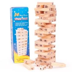 Bộ rút gỗ 54 thanh tặng kèm 4 viên xúc xắc, đồ chơi rút gỗ kích thích trí não cho trẻ, đồ chơi xếp hình, rút gỗ, đồ chơi trẻ em, Huy Linh