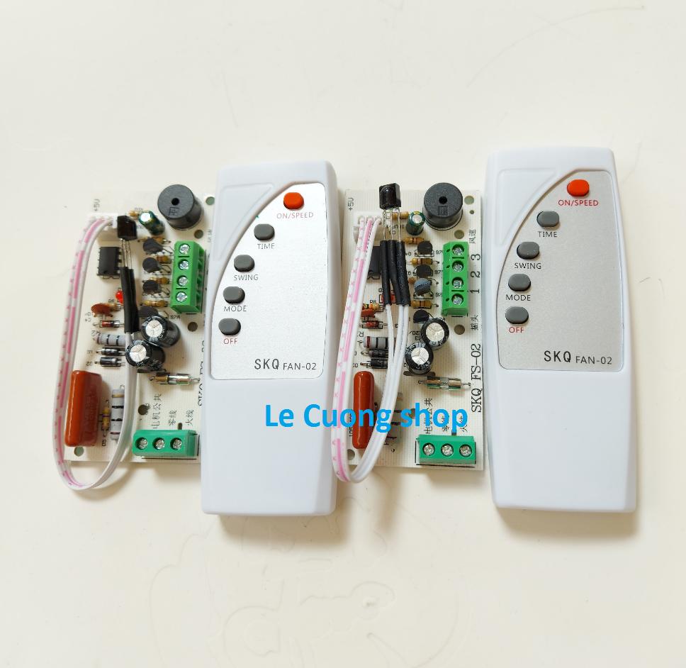 [CỰC SỐC] Combo 2 bộ Mạch điều khiển từ xa cho quạt SKQ02 .Bộ mạch và điều khiển từ xa dành cho quạt bàn, quạt treo tường, quạt cây…biến quạt thường thành quạt điều khiển từ xa.