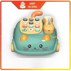 Điện thoại đồ chơi hình mèo con có rất nhiều giai điệu nhạc khác nhau (có hộp và được tặng kèm pin tiểu)