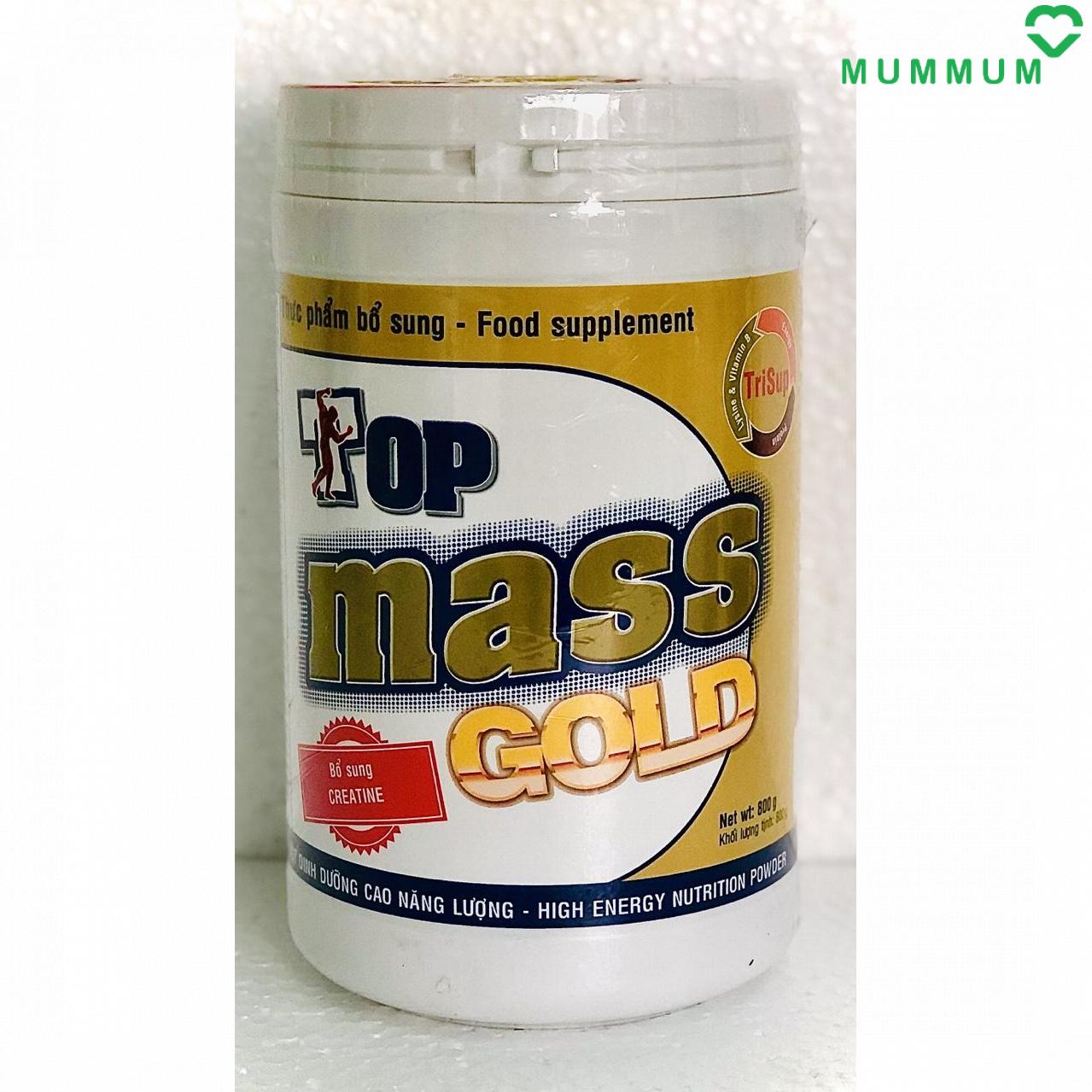 Sữa bột Top Mass Gold 800g tăng cân – Vani