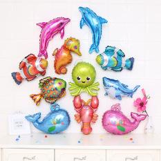 Bong bóng kiếng sinh vật biển tôm cá bạch tuộc tráng nhôm trang trí quà tặng đồ chơi cho bé