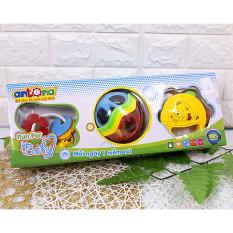 Xúc Xắc + Gặm nướu + Lục Lạc – Fun For Baby cho bé