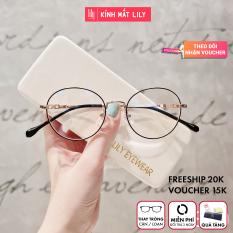 Gọng Kính Cận Kim Loại 2840 Hàn Nâu – Gọng Kính Mắt Lily