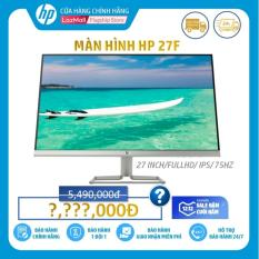 Màn hình HP 27f (27 Inch/FULLHD/75Hz/5Ms/IPS/3AL61AA) – Hàng Chính Hãng