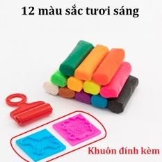 Đất nặn nhiều màu Deli – Chất liệu an toàn – có khuôn kèm – 12/24 màu – 01 hộp nhựa có quai xách – 7022