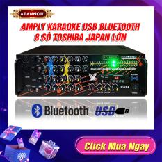 [ Xả Kho ] Amply Đèn nháy cực đẹp – Ampli Bluetooth karaoke, Amply nghe nhạc gia đình ATANNOII PRO- 666D kết nối Bluetooth Usb Thẻ nhớ – Tặng dây AV và 2 chống lăn micro.