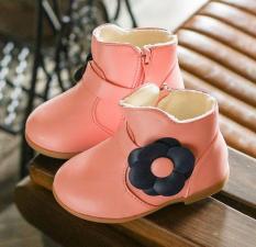 Boot Hoa Da Bóng Siêu Dễ Thương Cho Bé Gái