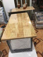 bàn gỗ cao su ngồi bệt R40 D80 cao35cm