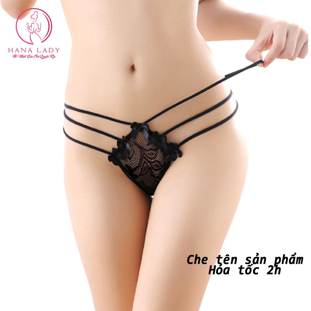 [HCM]Quần lót lọt khe nữ quần chip ren sexy quần lọt khe ren nữ quyến rũ LK081
