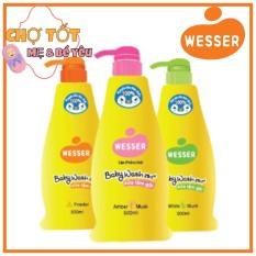 Sữa Tắm Gội Wesser Hàn Quốc 500ml (dầu tắm gội 2in1)