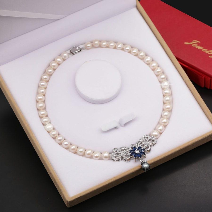 Chuỗi Ngọc Trai – Vòng Cổ Ngọc Trai Nước Ngọt Tự Nhiên Nữ Hoàng Sắc Đẹp DB-1825 Bảo Ngọc Jewelry