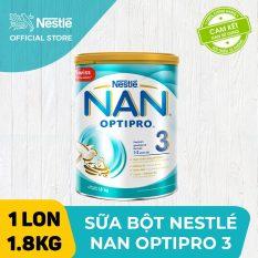 [FREESHIP] Sữa bột Nestle NAN OPTIPRO 3 1.8Kg cho trẻ từ 1-2 tuổi giúp trẻ dễ tiêu hóa tăng cường sức đề kháng và phát triển khỏe mạnh – Cam kết HSD còn ít nhất 10 tháng