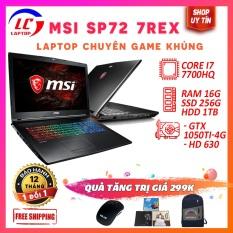 Laptop Gaming, Laptop Chơi Game Giá Rẻ MSI GP72 7REX, i7-7700HQ, Card Rời Nvidia GTX 1050Ti, LaptopLC298