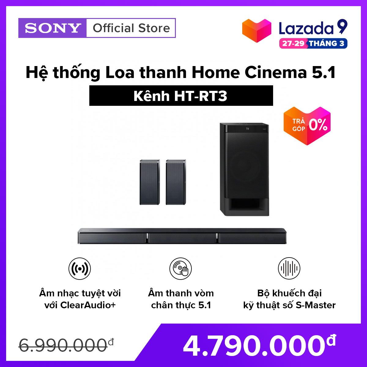[VOUCHER 300K – HÀNG CHÍNH HÃNG – TRẢ GÓP 0%] Hệ thống Loa thanh Home Cinema 5.1 kênh HT-RT3 Âm thanh vòm chân thực 5.1 Bộ khuếch đại kỹ thuật số S-Master