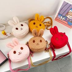 Túi thỏ bông đeo chéo đáng yêu đủ màu sắc tươi tắn cho bé yêu diện đi chơi Tết lung linh BBShine – TX038