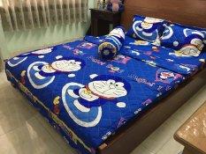 Bộ 5 món Chăn Ga Gối Hè Cotton Poly Doraemon 1m8x2mx10cm