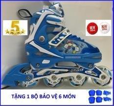 Giầy Trượt Patin Phát Sáng INLINE SKATE, Tặng 1 Bộ Bảo Vệ Chân Tay Đầy Đủ