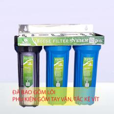 Bộ lọc nước sinh hoạt 3 cấp 30C3 (1trong 2 xanh)