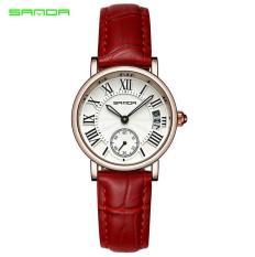 Đồng hồ nữ thời trang dây da cao cấp Sanda (Full box)