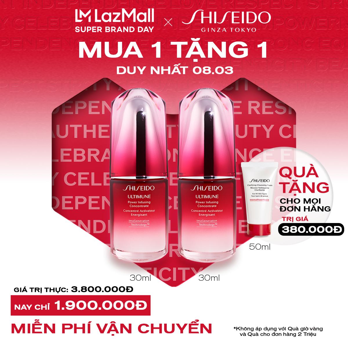 [MUA 1 TẶNG 1 – Duy nhất 8.3] Tinh chất dưỡng da Shiseido Ultimune Power Infusing Concentrate N 30ml