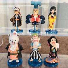 Set 6 Mô Hình Nhân Vật One Piece WCF Chibi Phiên bản 6 Kimono Siêu Dễ Thương