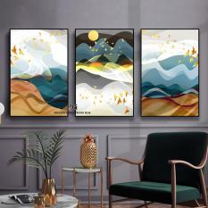 Bộ 3 tranh canvas 40x60cm kèm Khung Viền 3D Nổi Bật – Khung Hình Phạm Gia PGTK569