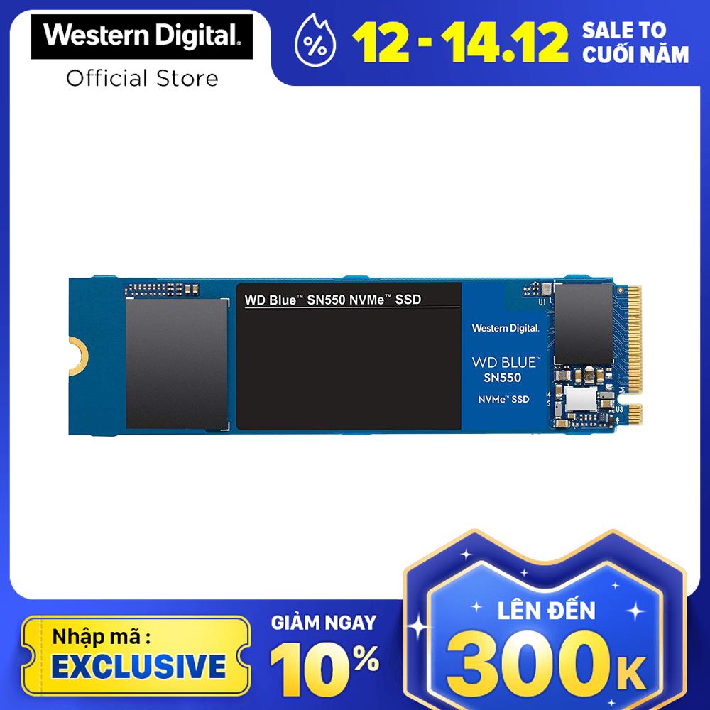 [Nhập mã EXCLUSIVE giảm 10%] Ổ cứng SSD WD Blue SN550 PCIe Gen3 x4 NVMe M.2 500GB WDS500G2B0C