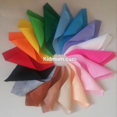 Combo vải nỉ mềm kích thước 15*20cm: 12, 18 màu
