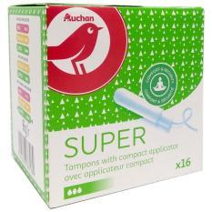 Băng vệ sinh Tampon Appli Super Auchan gói 16 miếng