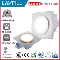 Quạt thông gió âm trần có đèn LED LAVFILL LFCV-12DL, LFCV-16DL