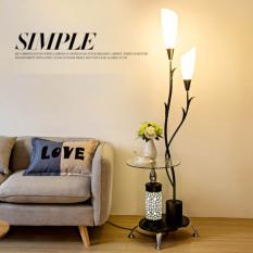 Đèn đứng tích hợp bàn cà phê sang chảnh cho không gian nội thất đẹp
