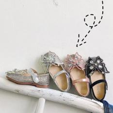 Giày búp bê bé gái nơ bướm đính đá xinh từ 2 – 5 tuổi