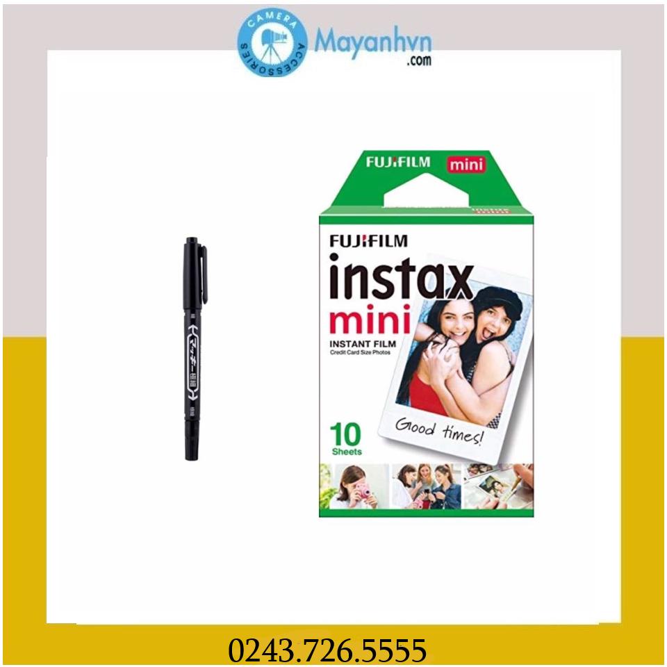 Combo Film Instax Mini- White frame- 1pack/10 tấm ảnh + bút instax