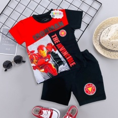 Bộ quần áo siêu nhân người sắt – Bộ đồ siêu nhân tay ngắn bé trai TN15