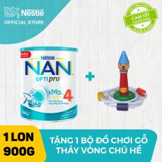 Sữa bột Nestle NAN Optipro 4 HM-O cho trẻ trên 2 tuổi 900g + Tặng 1 bộ Bộ đồ chơi gỗ thảy vòng chú hề