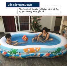 Bể bơi phao INTEX bãi biển xanh 56490 – Hồ bơi cho bé mini, Bể bơi phao trẻ em, bể bơi cho bé, bể bơi ngoài trời