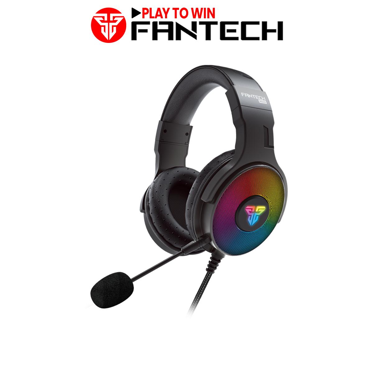 Tai nghe Gaming có dây Fantech HG22 FUSION 7.1 âm thanh vòm, led RGB, jack cắm USB, dùng cho PC và PS4 – Hãng phân phối chính thức