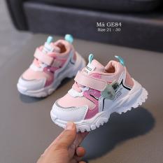 Giày thể thao cho bé gái 1 – 5 tuổi đế mềm quai dán thời trang phong cách Hàn Quốc GE84