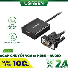 Bộ chuyển đổi VGA sang HDMI + Audio 3.5mm dài 30cm UGREEN 60814 – Hãng phân phối chính thức