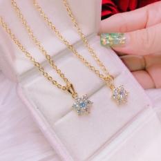 Dây chuyền nữ DM017, dây chuyền mạ vàng thật cao cấp chạm khắc hoa văn tinh tế xinh đẹp lấp lánh – đeo đi đám cưới vô cùng quý phái
