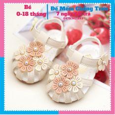 Giày tập đi sandan cho bé họa tiết hoa xinh đáng yêu dép tập đi đế chống trơn trượt sản phẩm có độ bền cao chất lượng tốt cam kết hàng nhận được giống hình