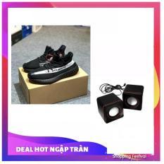 Giày thể thao nam siêu thoáng Sportmax SPM905626D OFF WHITE (Viền Trắng) + Tặng loa di động đầu cắm cổng Usb 3w