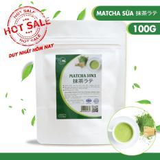 Bột trà xanh sữa, matcha sữa thơm ngon , Light Tea , đặc biệt sử dụng matcha chính hãng Nhật Bản , không pha trộn hương liệu , gói 100g